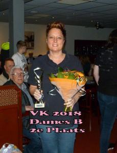 VK 2018 Dames B Klasse 2e Plaats