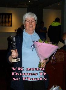 VK 2018 Dames D Klasse 3e Plaats
