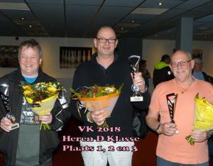 VK 2018 Heren D Klasse Plaats 1,2,3
