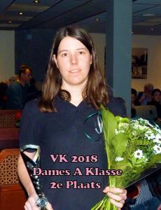 VK 2018 Dames A Klasse 2e Plaats