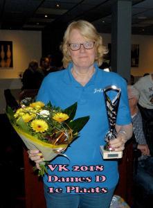 VK 2018 Dames D Klasse 1e Plaats