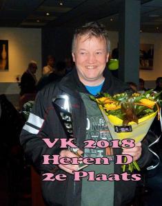 VK 2018 Heren D Klasse 2e Plaats