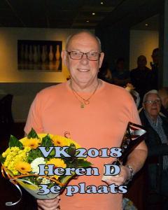 VK 2018 Heren D Klasse 3e Plaats